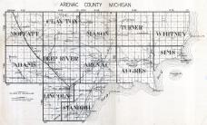 Arenac County Map, Arenac County 192x